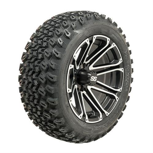 Set Of 4 14 Inch Voyager Wheels On A T Tires River City Golf Carts