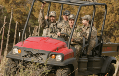 Hunting with golf carts, Tappahannock Virginia