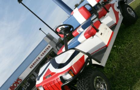 Custom painted golf cart, Tappahannock Virginia