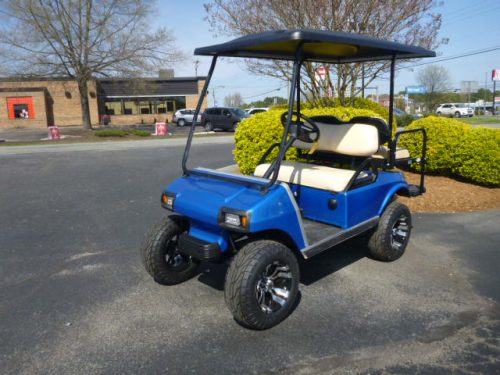 2011 club car ds gas lift blue